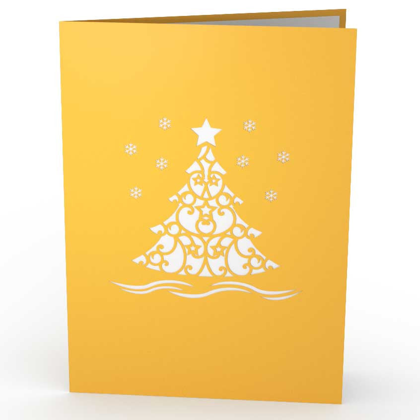 Christmas Tree Gold pop up card