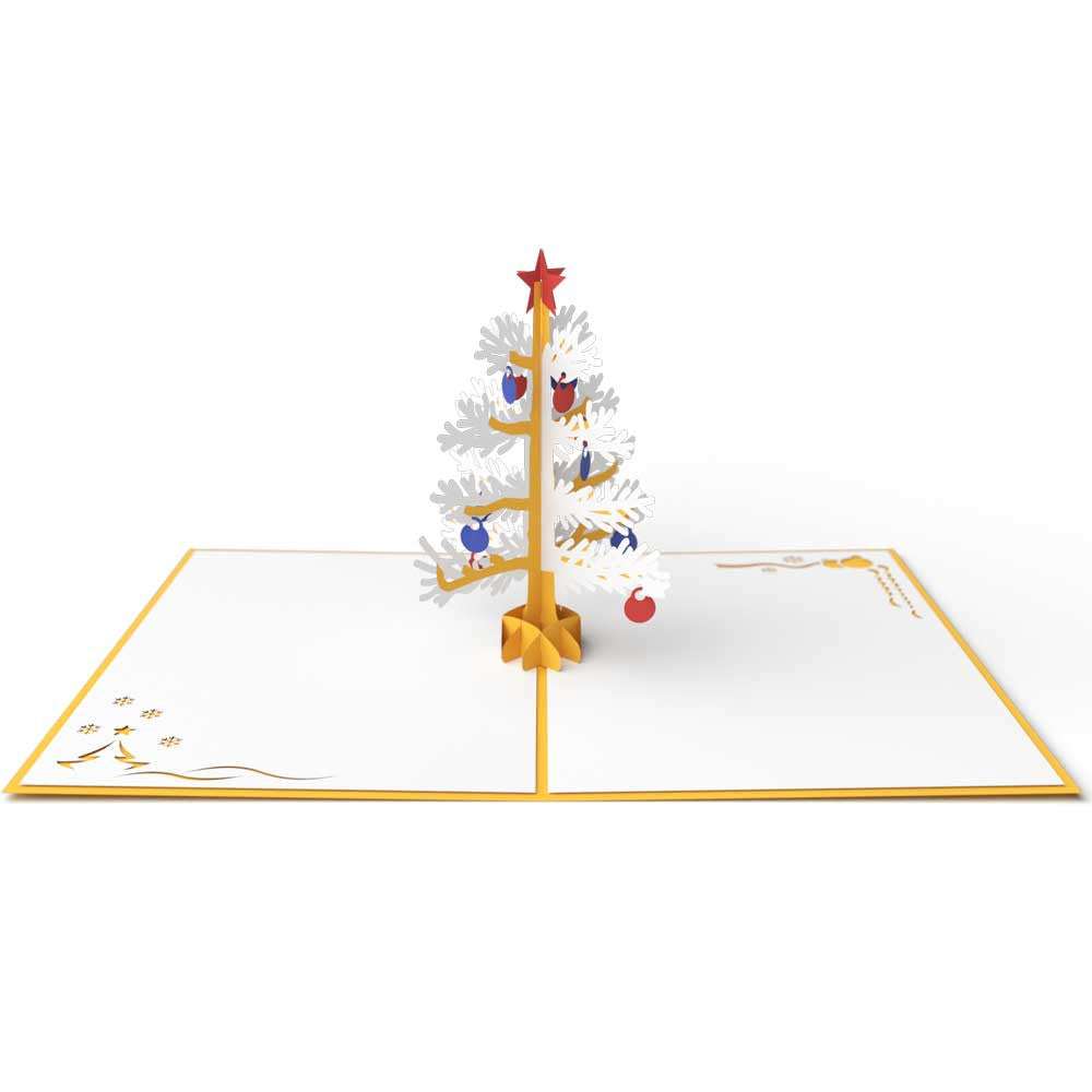 Thumbnail Wedding Tree: 3D Christmas Tree Pop Up Holiday Card (Gold)