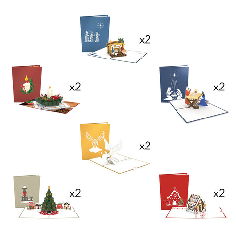 Traditional Christmas greeting card -  Lovepop
