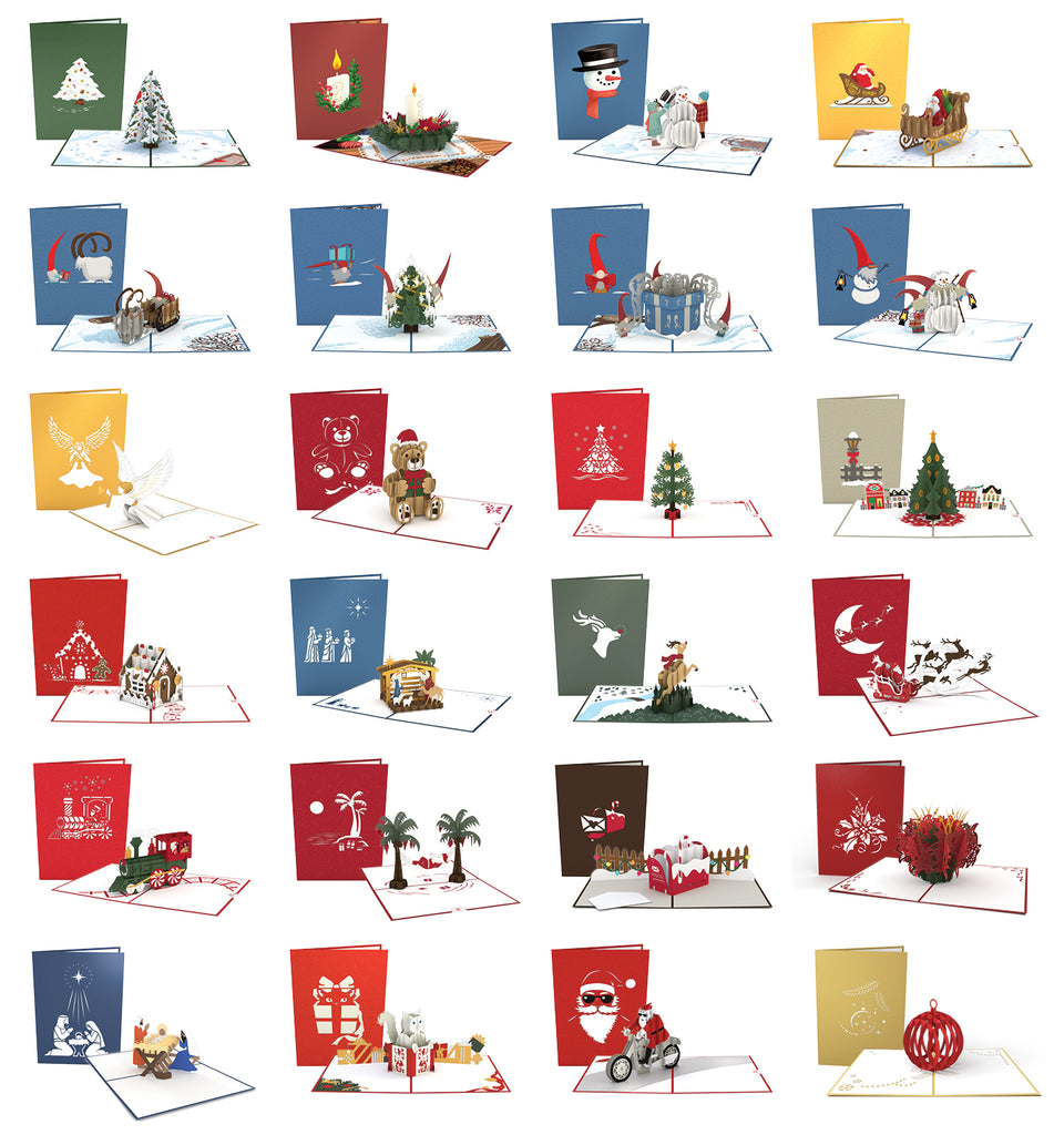 Countdown to Christmas 24 Pack pop up card