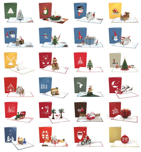 Advent Calendar greeting card -  Lovepop