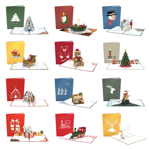 Magical Christmas greeting card -  Lovepop