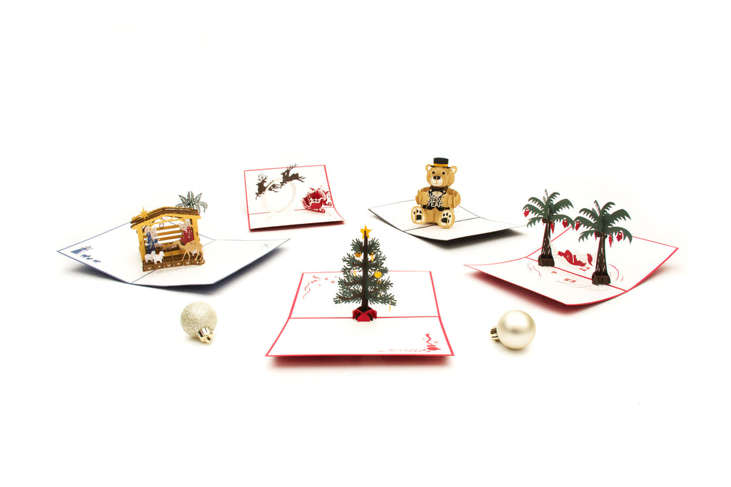 Christmas Collection 5-pack pop up card