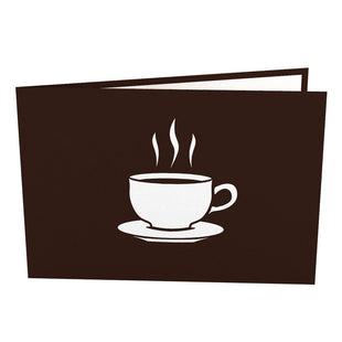 Small Coffee Cup Pop Up Gift Card
