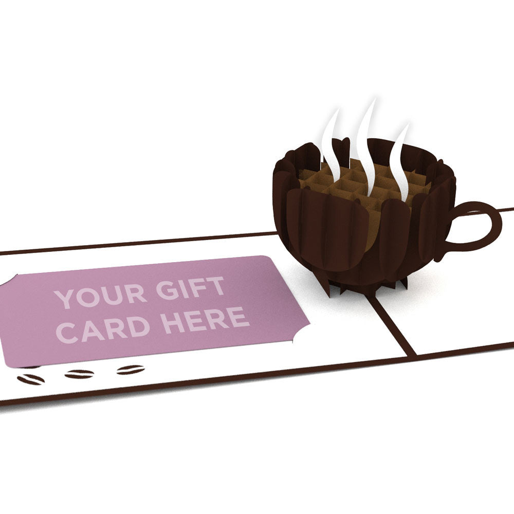 Small Coffee Cup Gift Card birthday pop up card
