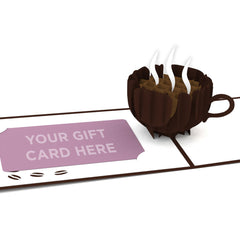 Small Coffee Cup Pop Up Gift Card greeting card -  Lovepop