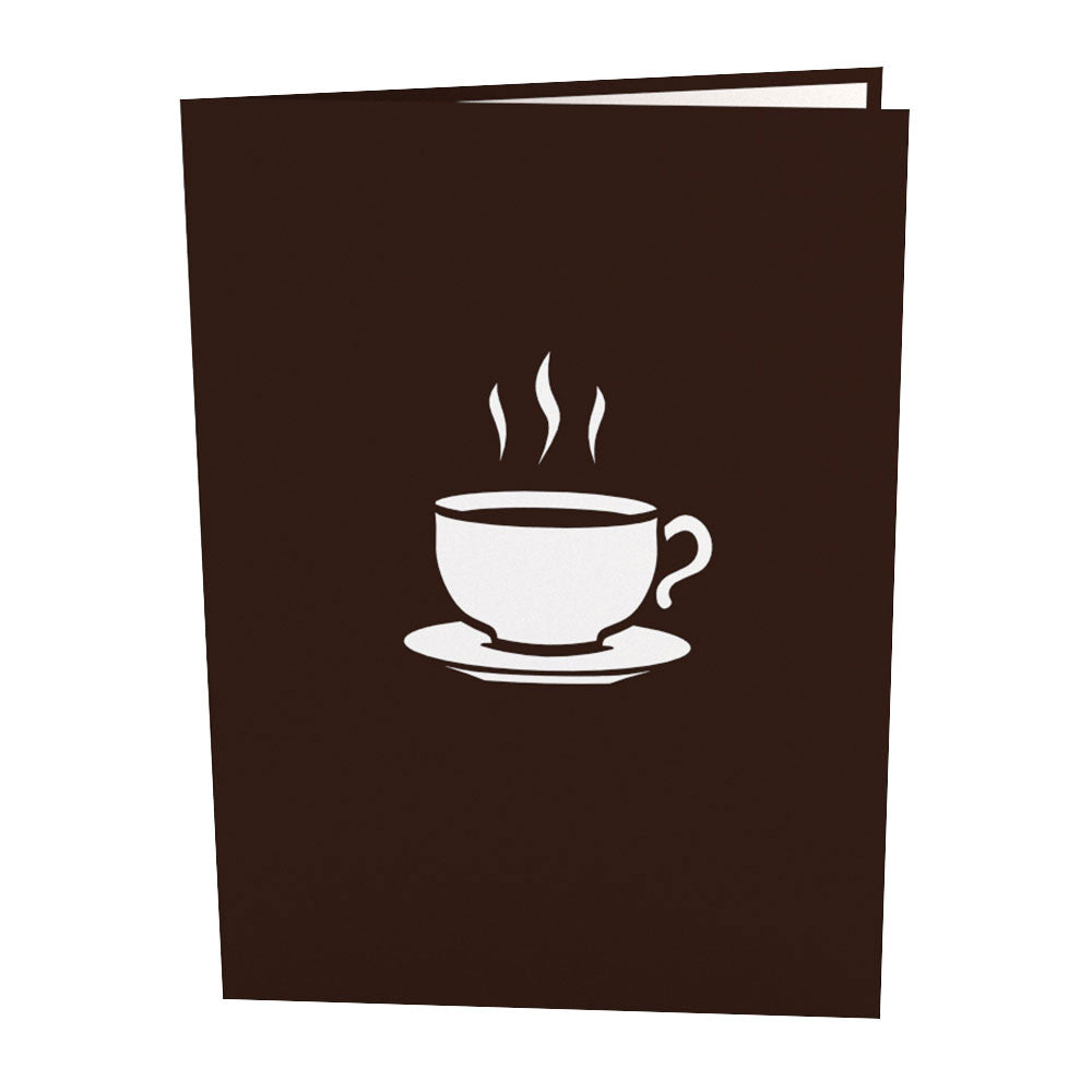 Coffee Cup Pop Up Thank You Card
