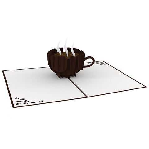 Coffee Cup Pop Up Thank You Card greeting card -  Lovepop