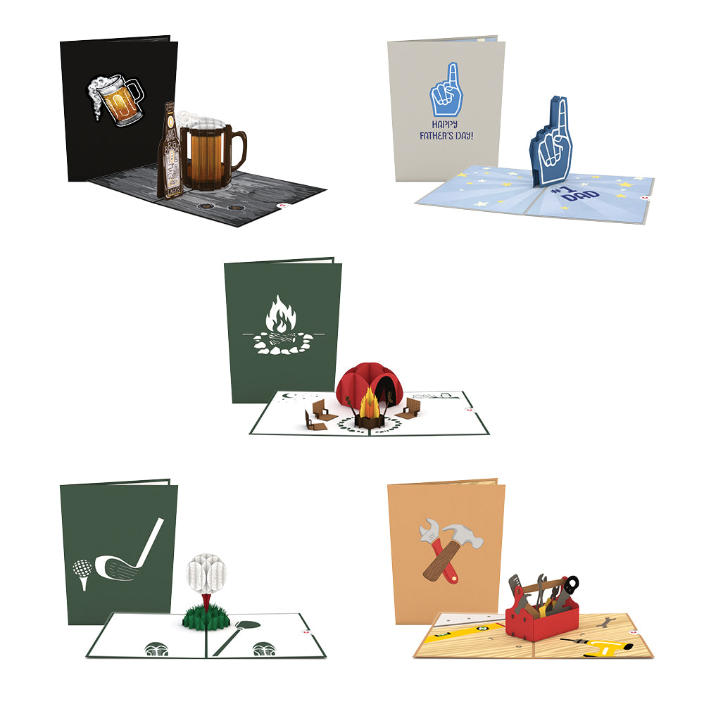 Perfect Dad 5 Pack             pop up card