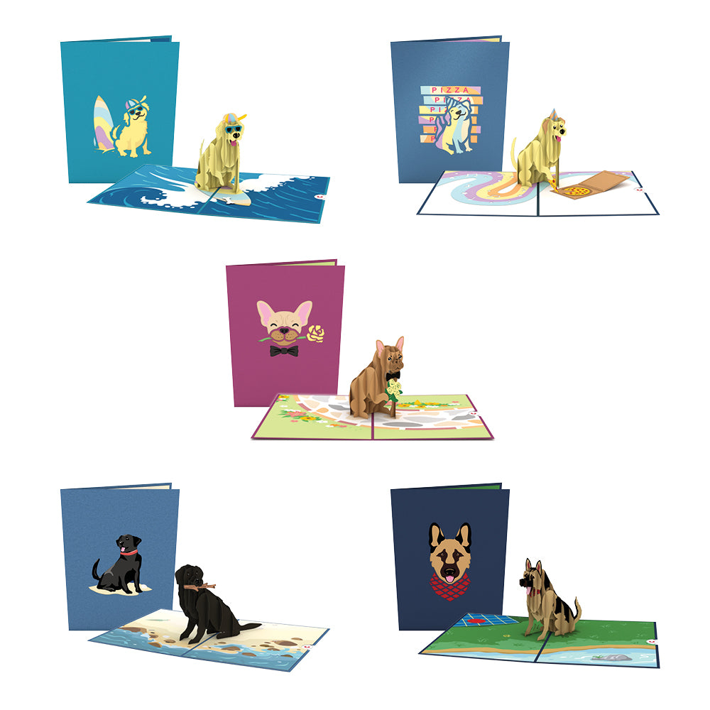 Lovepop Dog 5-Pack             pop up card