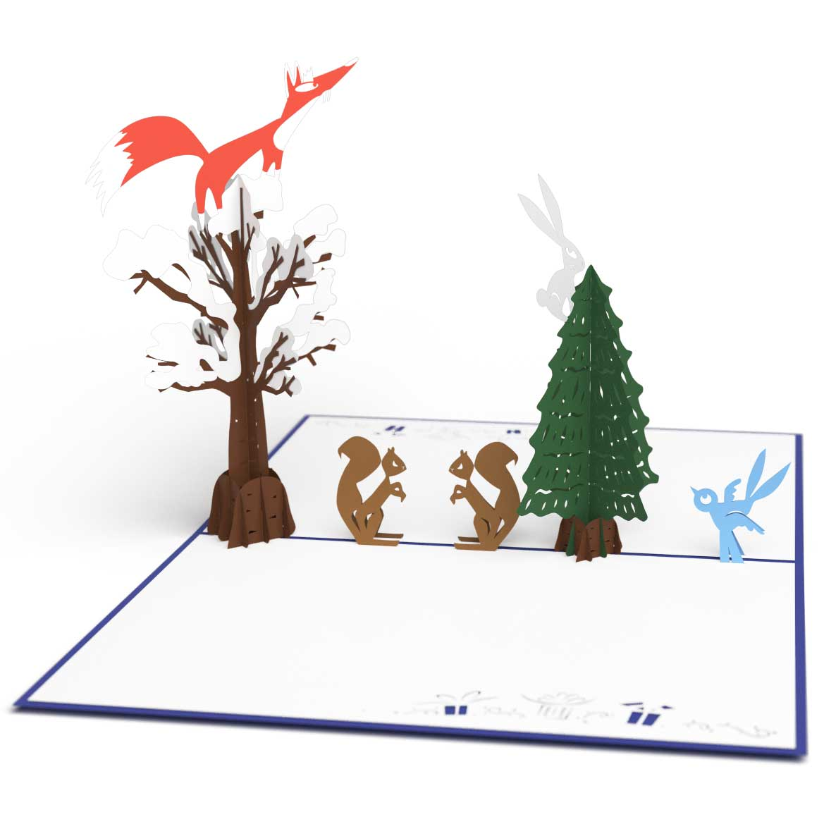 3D Forest Noel Pop Up Holiday Card - Lovepop
