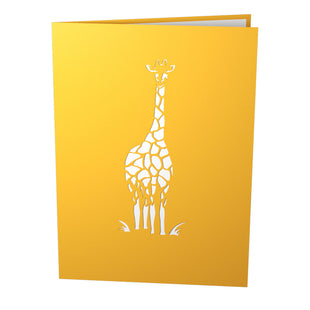 Giraffes Pop Up New Baby Card