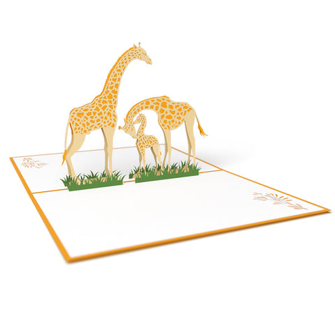 Giraffes Pop Up New Baby Card greeting card -  Lovepop