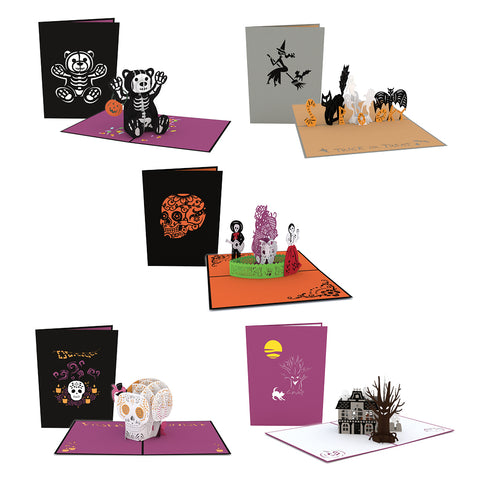 Halloween 5 Pack greeting card -  Lovepop