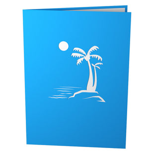 Hammock & Palm Girl Pop Up Birthday Card