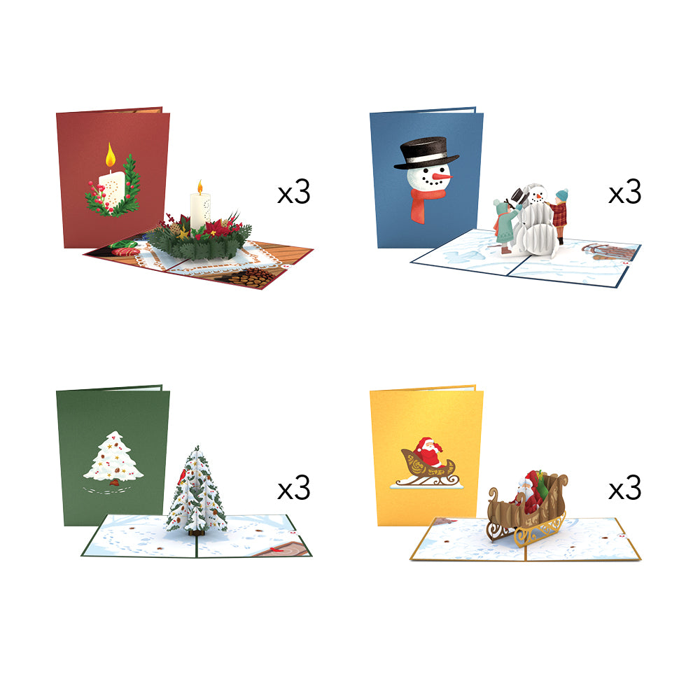 Night Before Christmas Pack pop up card