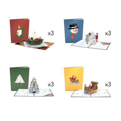Night Before Christmas Pack greeting card -  Lovepop