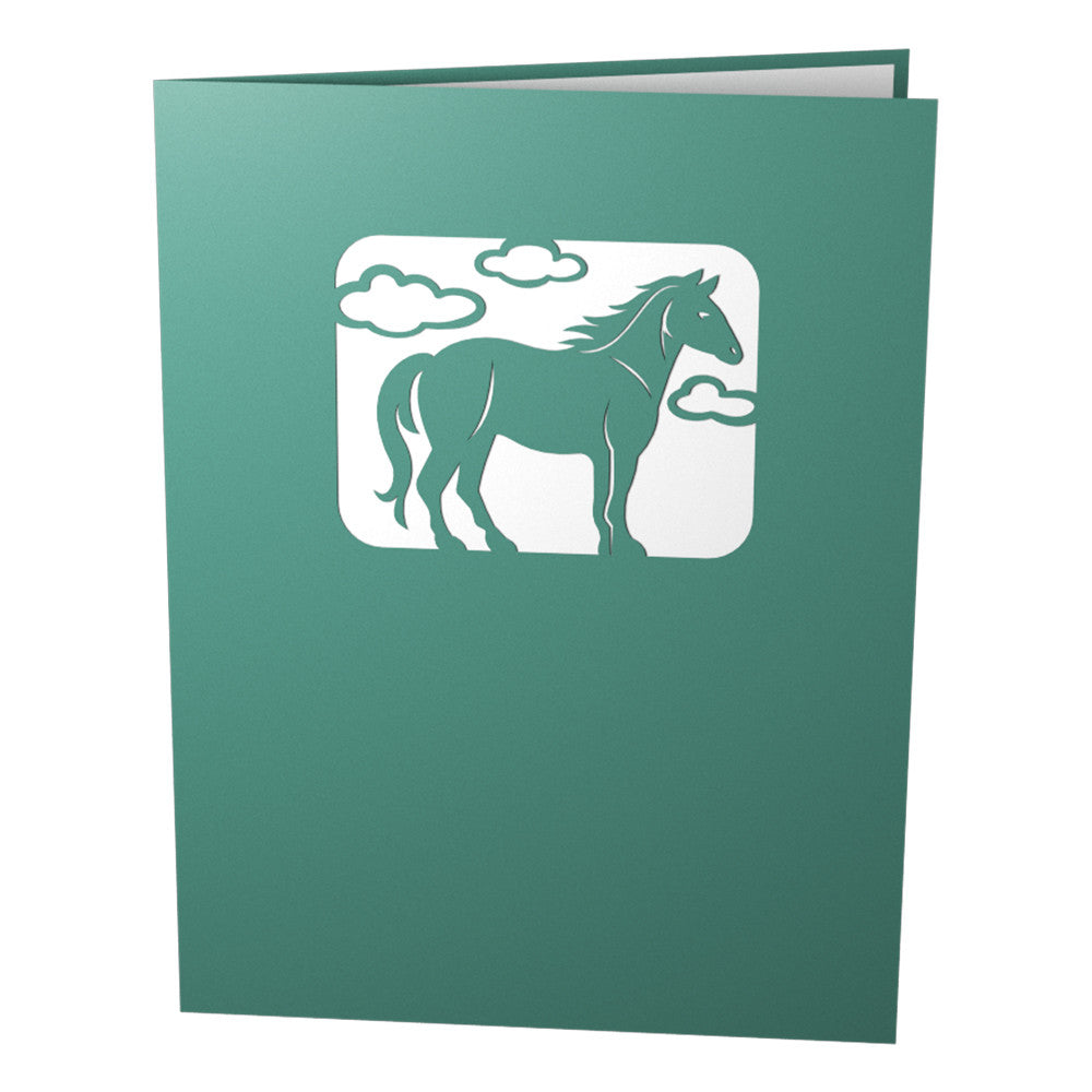 Horses Running pop up card