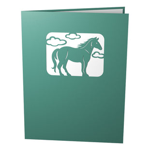 Horses Running Pop Up Birthday Card
