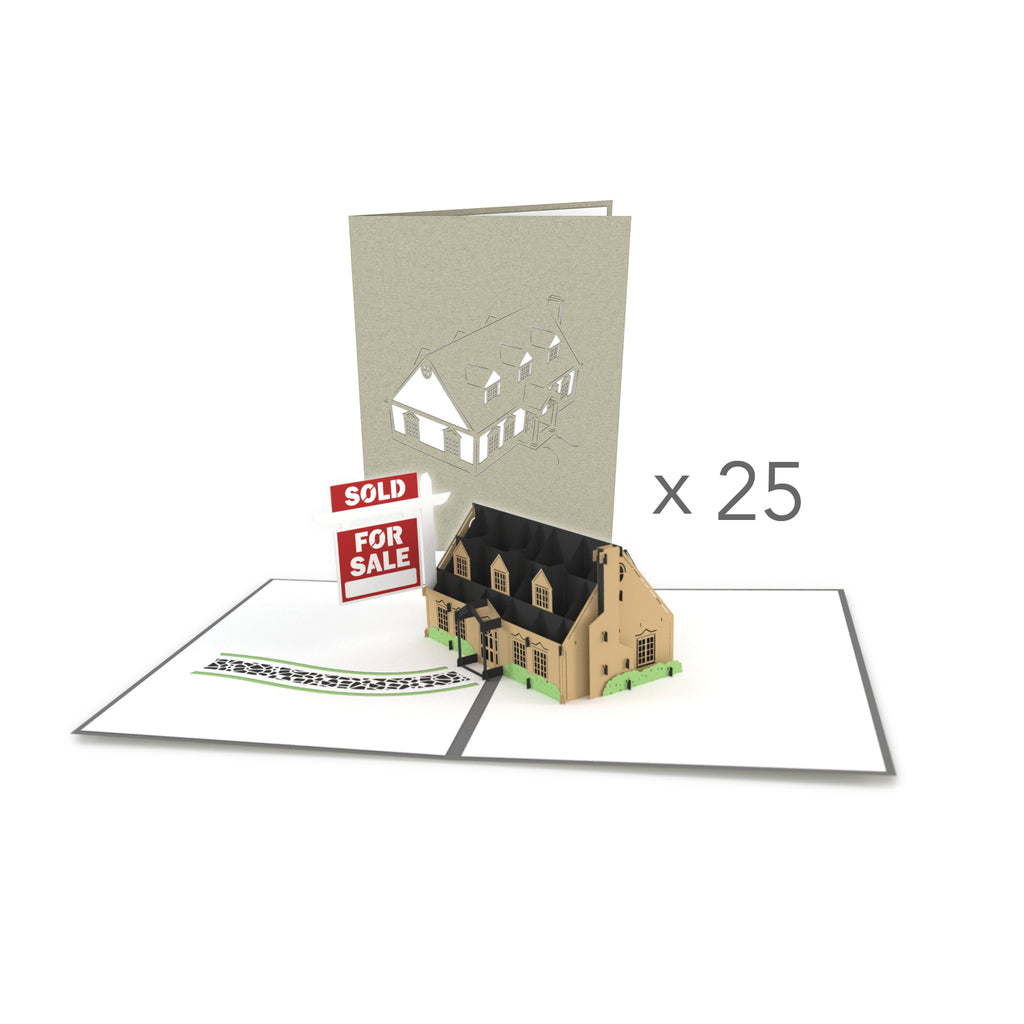 House for Sale Bulk 25 Pack pop up card