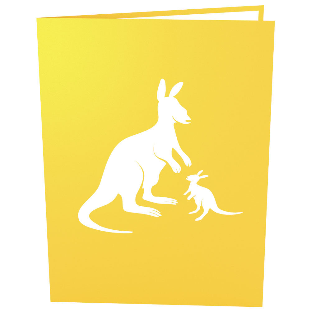Kangaroos pop up card