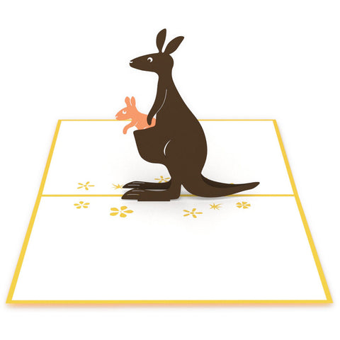 Kangaroos Pop Up Birthday Card greeting card -  Lovepop