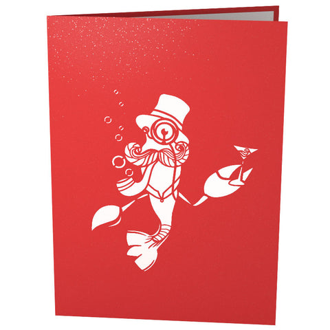 Fancy Lobster Pop Up Birthday Card popup card cover - Lovepop