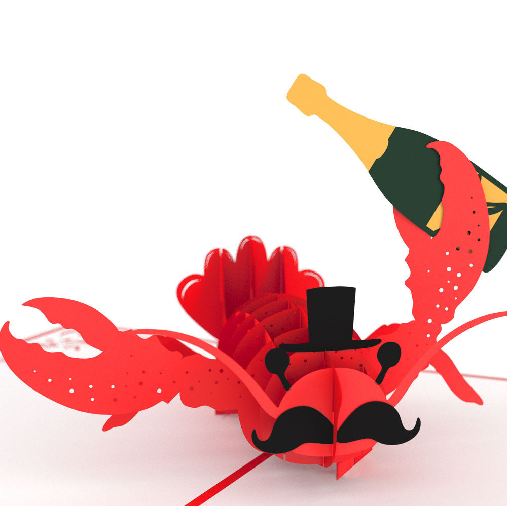 Fancy Lobster birthday pop up card