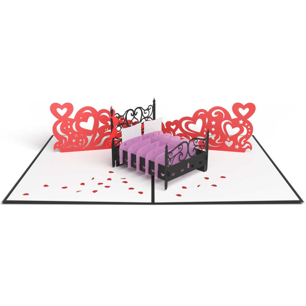 Love Bed Valentines Day Card Lovepop – Pop Up Valentines Day Card