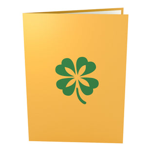 Lucky Clover Pop Up St. Patrick's Day Card