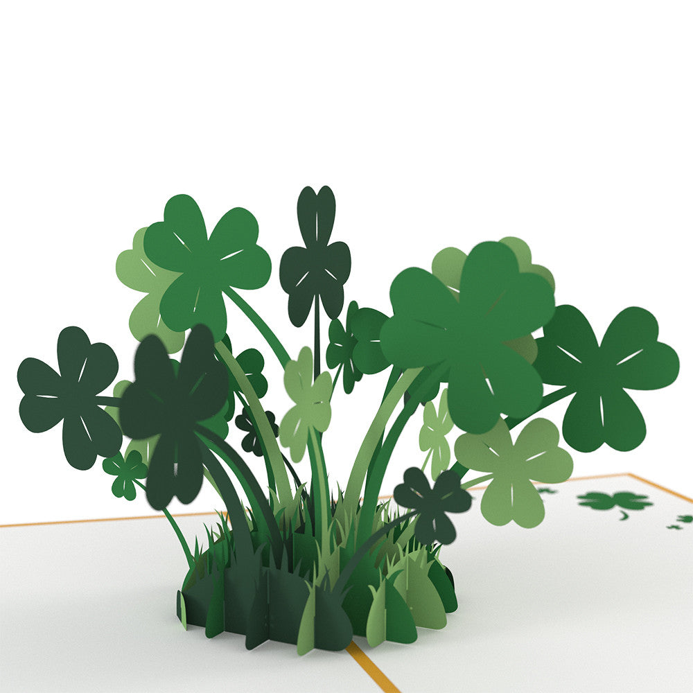 Lucky Clover birthday pop up card