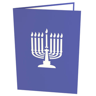 Menorah Pop Up Hanukkah Card