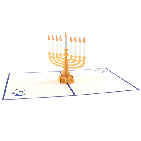 Menorah Pop Up Hanukkah Card greeting card -  Lovepop