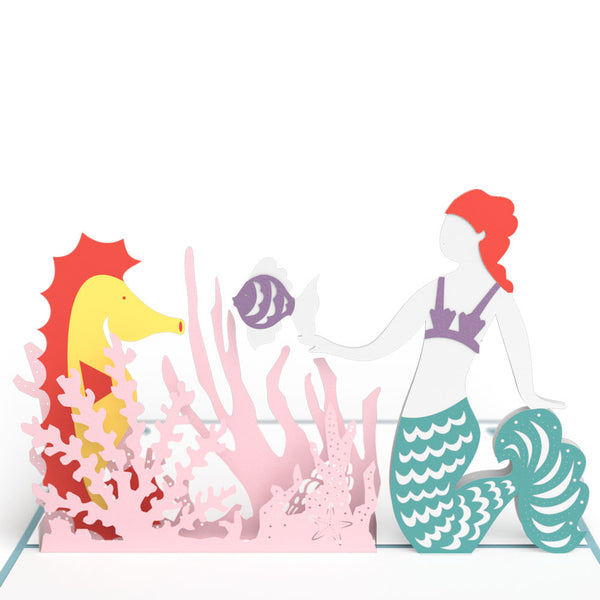 Mermaid Pop Up Birthday Card Lovepop