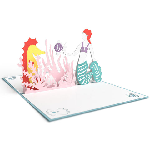 Mermaid Pop Up Birthday Card greeting card -  Lovepop