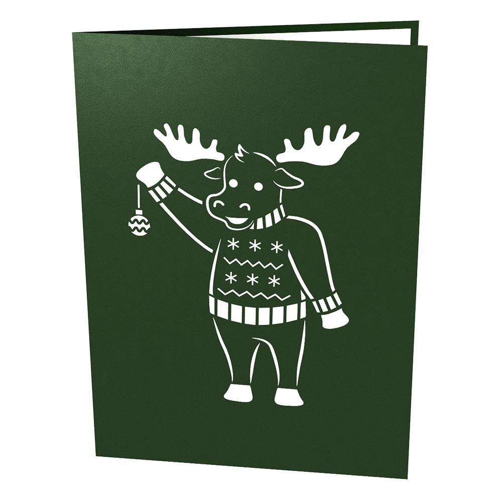 Christmas Moose pop up card