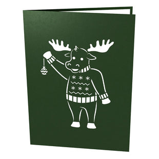 Christmas Moose Pop Up Christmas Card