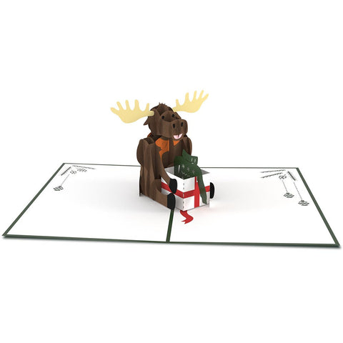 Christmas Moose Pop Up Christmas Card greeting card -  Lovepop
