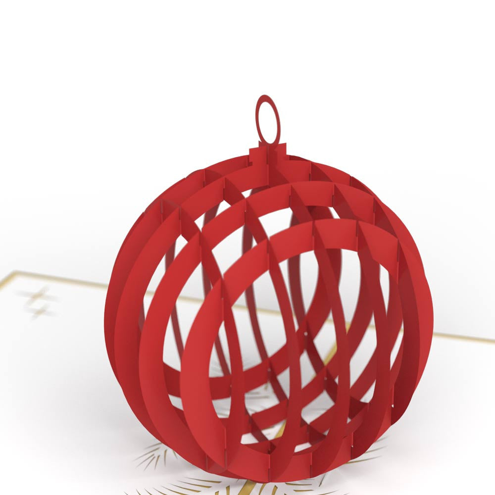 Holiday Ornament 3D Christmas Pop Up Card