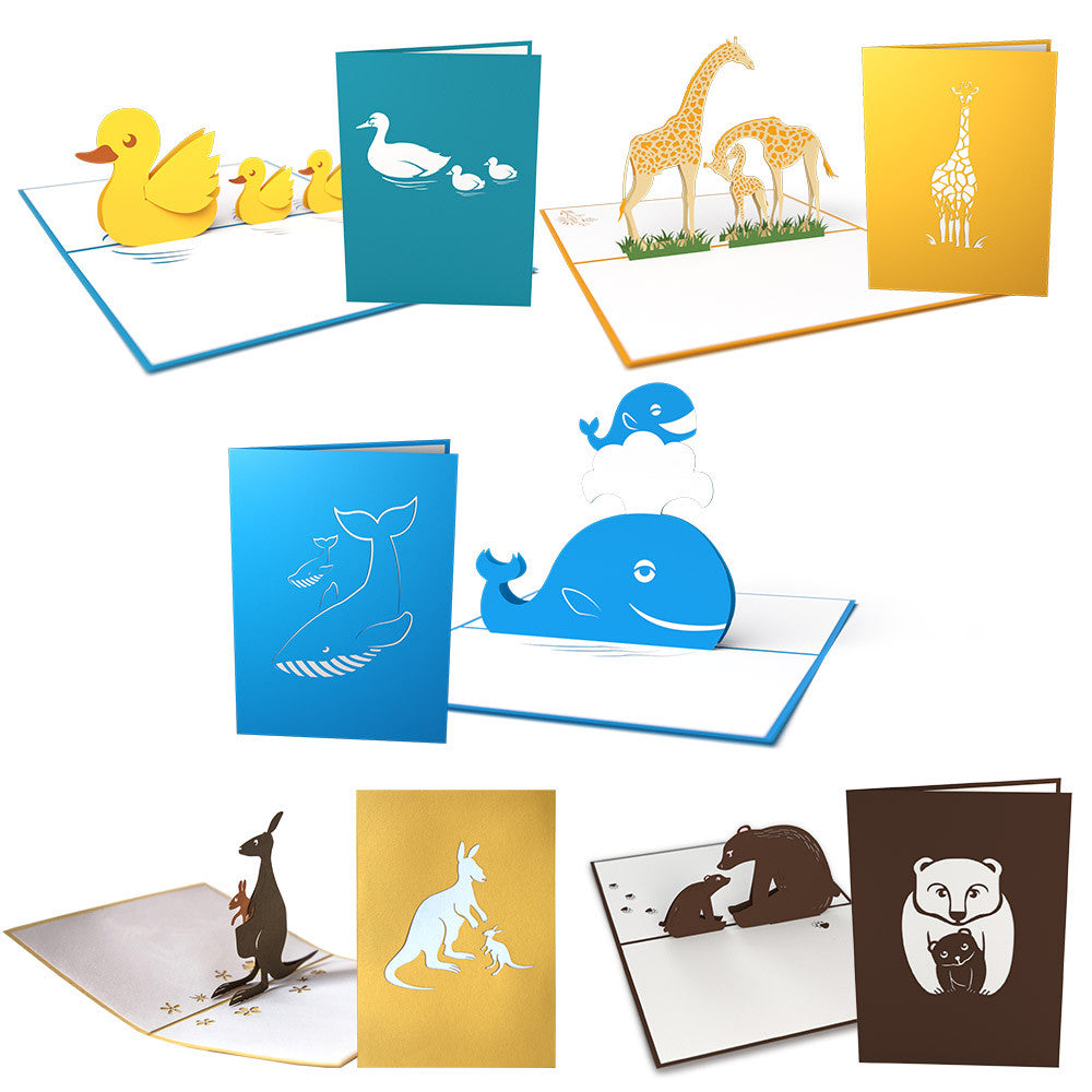 Mother's Day Animals 5 Pack pop up card