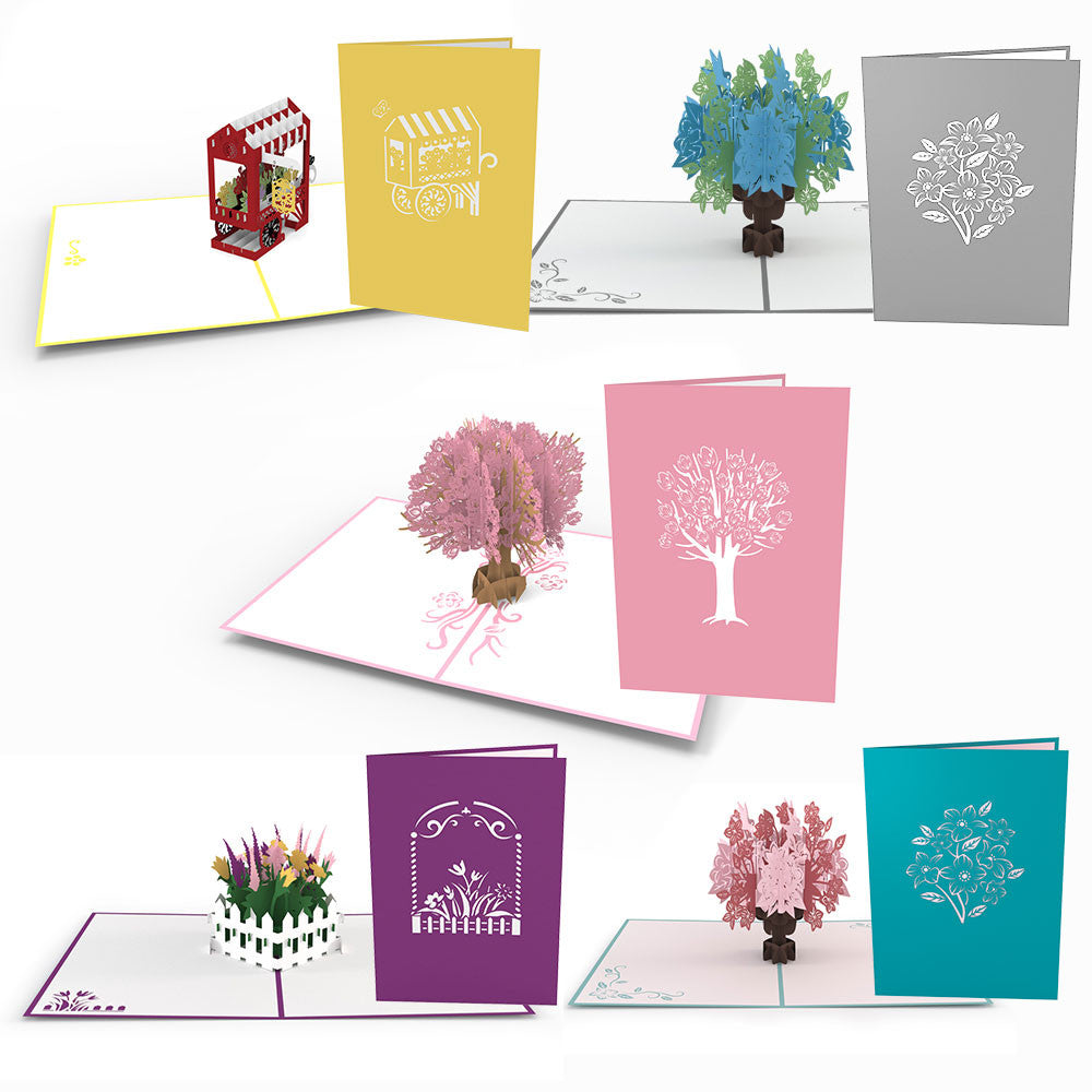 Mother's Day Florals 5 Pack pop up card