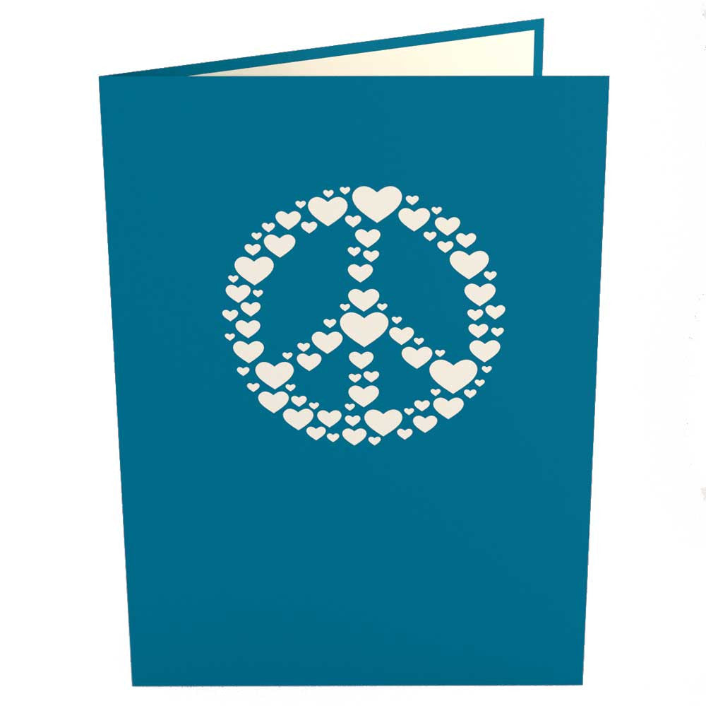 Peace Sign pop up card
