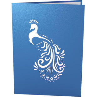 Peacock Pop Up Birthday Card
