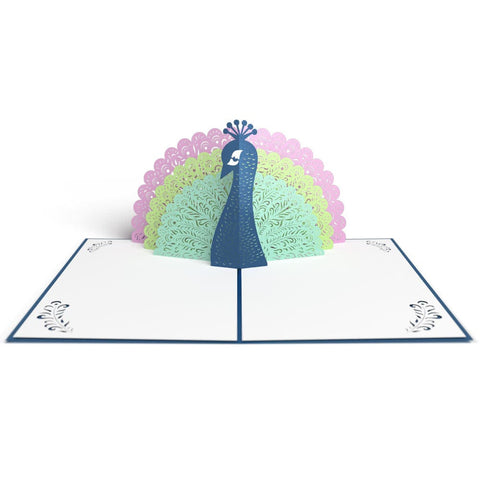 Peacock Pop Up Birthday Card greeting card -  Lovepop