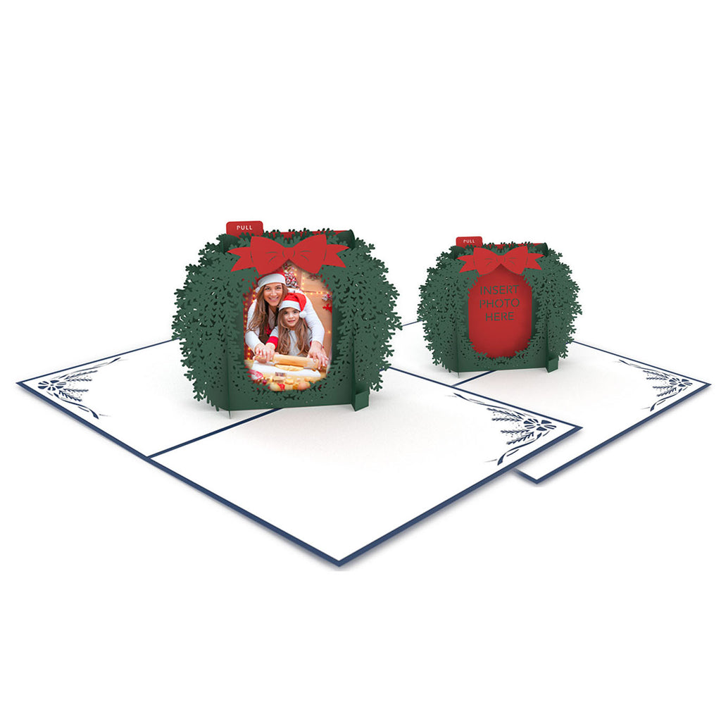 Photo Wreath 24 Pack pop up card