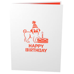 Pug Cake Smash Pop Up Birthday Card