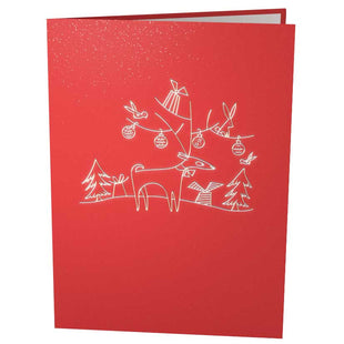 Reindeer with Presents Pop Up Christmas Card