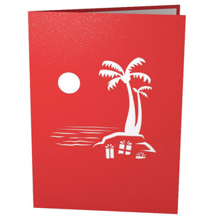 Santa Hammock Pop Up Christmas Card