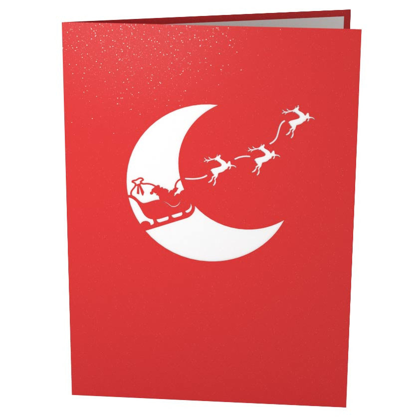 Santa Sleigh pop up card