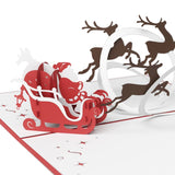 Santa Sleigh pop up card - thumbnail